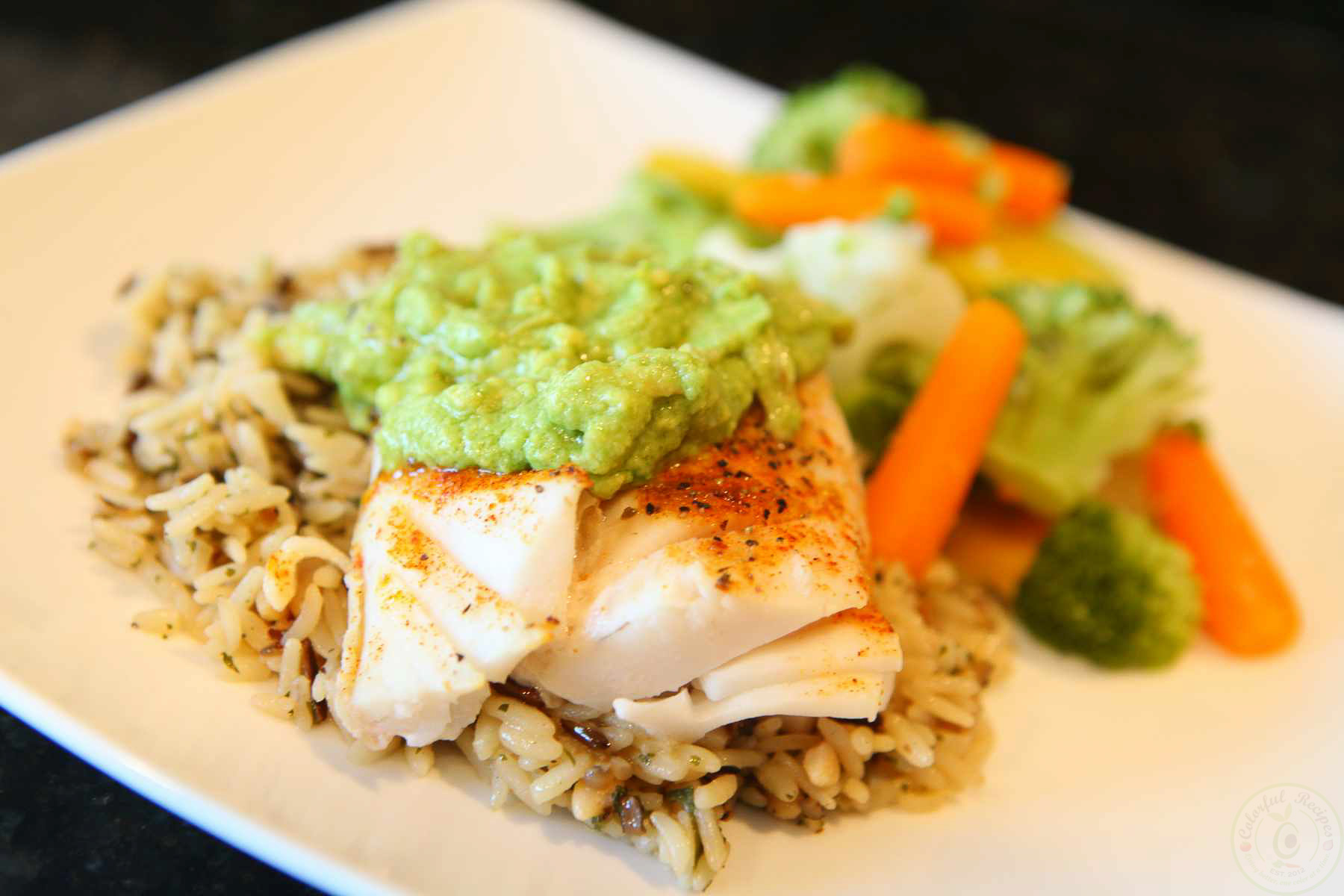 fish pacific cod avocado sauce colorful recipes