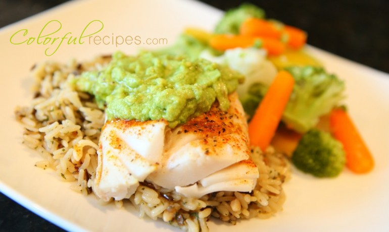 Colorful recipes fish pacific cod avocado sauce for Sauce for cod fish