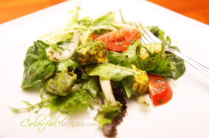 Avocado Greens Salad