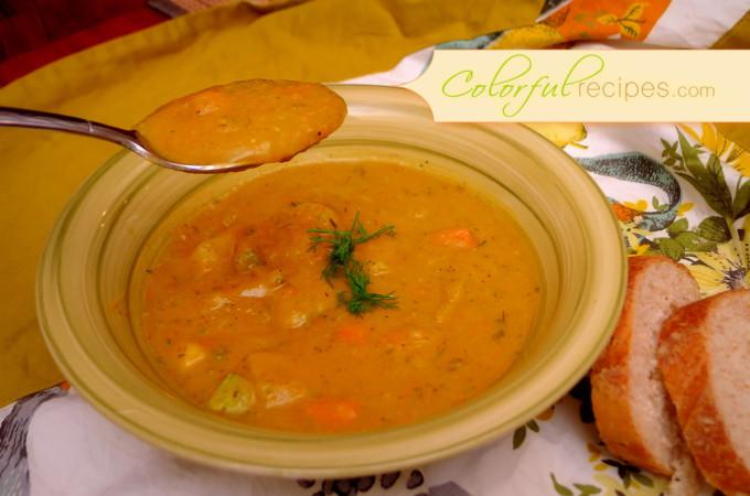 Carrot Potato Zucchini Soup