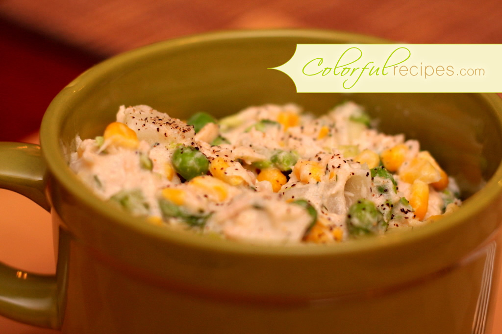 Tuna Potato Salad with Corn and Peas
