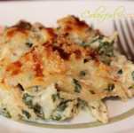 spinach chicken penne bake