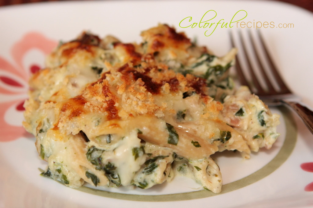 Spinach Chicken Penne Bake Colorful Recipes