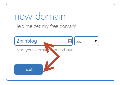 register the domain name on bluehost