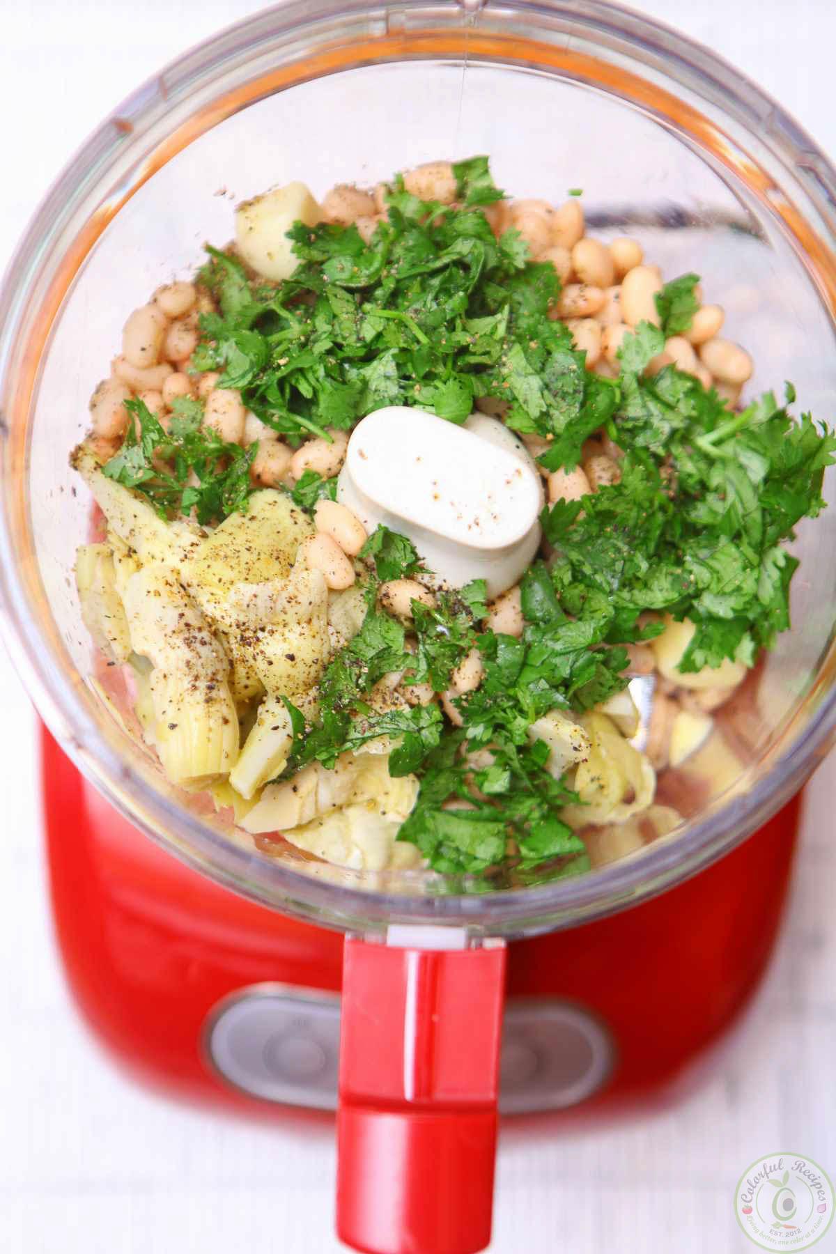 Cilantro White Bean Artichoke Dip