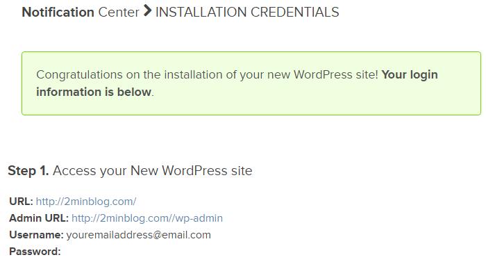 install wordpress on bluehost 7