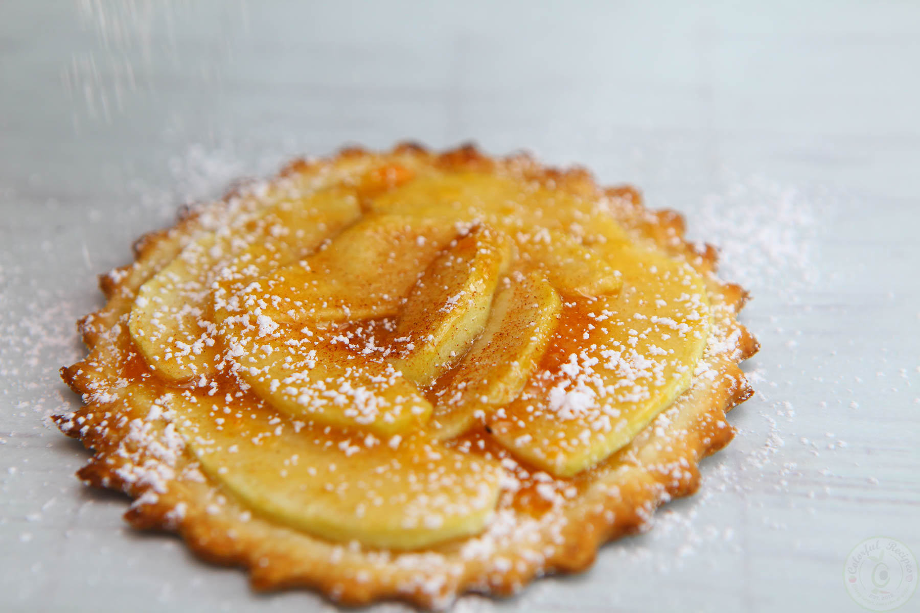 Mini French Apple Tarts with Apricot Jam