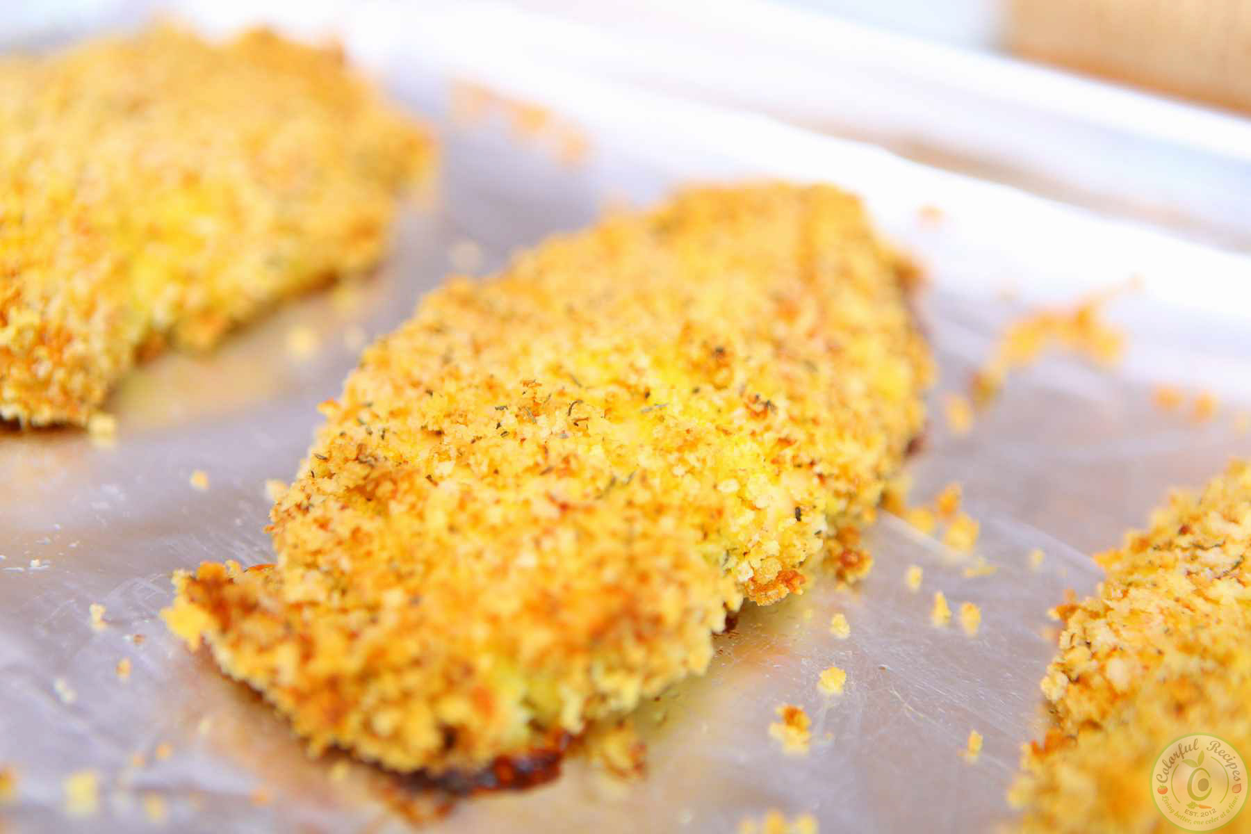 Italian Oven Fried Crispy Chicken Breasts