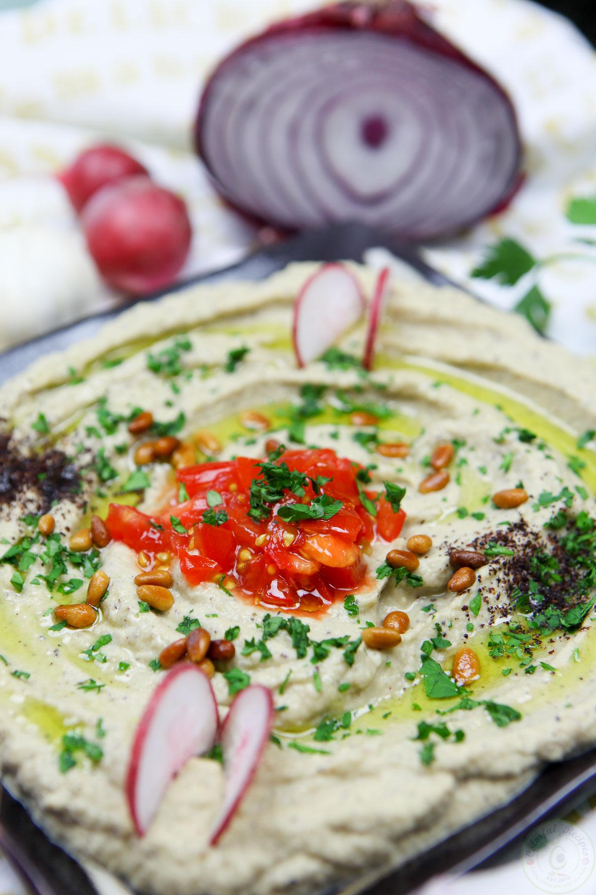 Lebanese Baba Ghanouj Eggplant Dip - Colorful Recipes