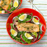 Quick Leftover Salmon Salad