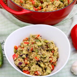 Roasted Veggie Quinoa Pilaf