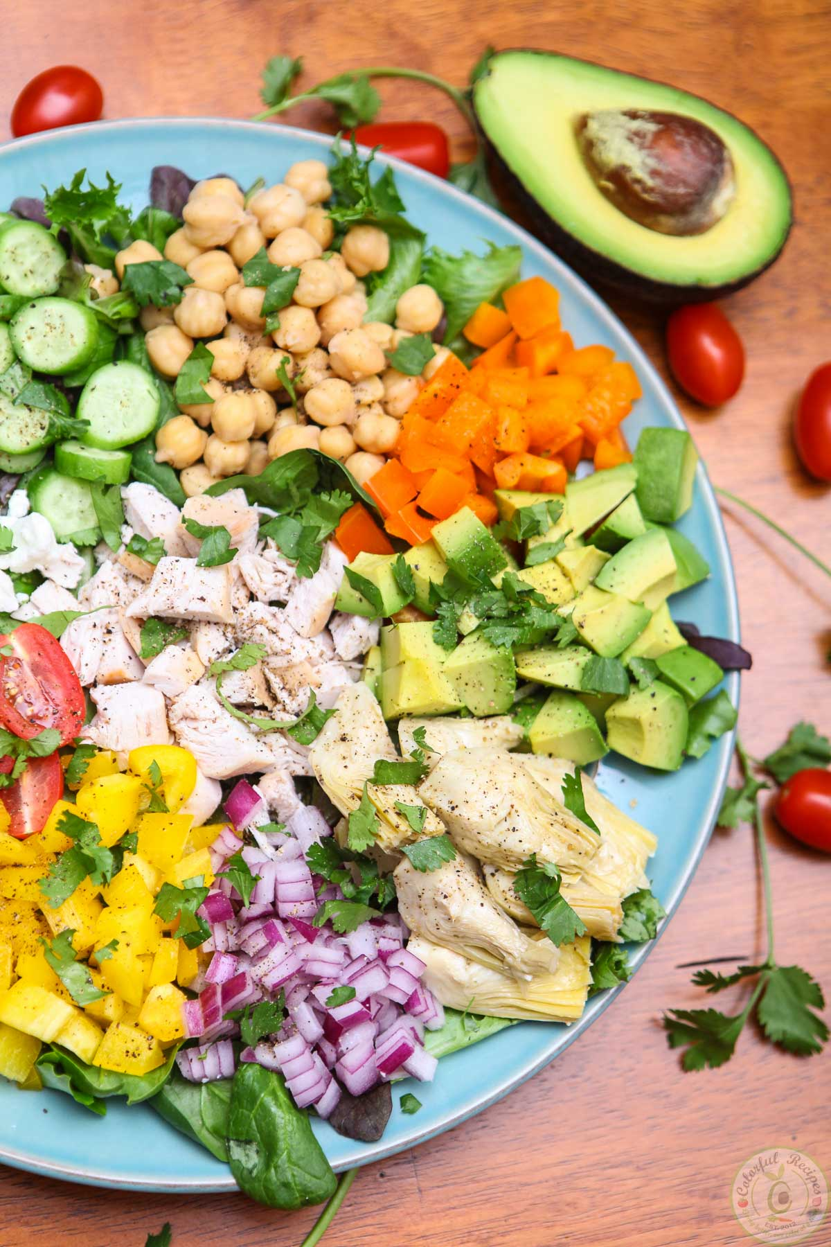 Rainbow Fresh Chopped Salad