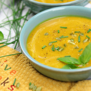 Creamy Butternut Squash Sweet Potato Soup