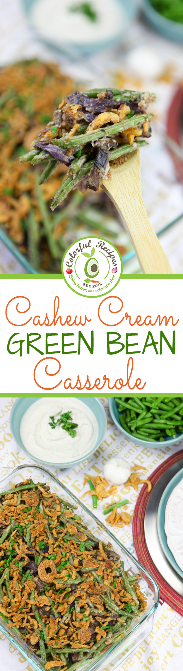 ... green bean casserole cebh style 3 5 3226 cashew cream green bean