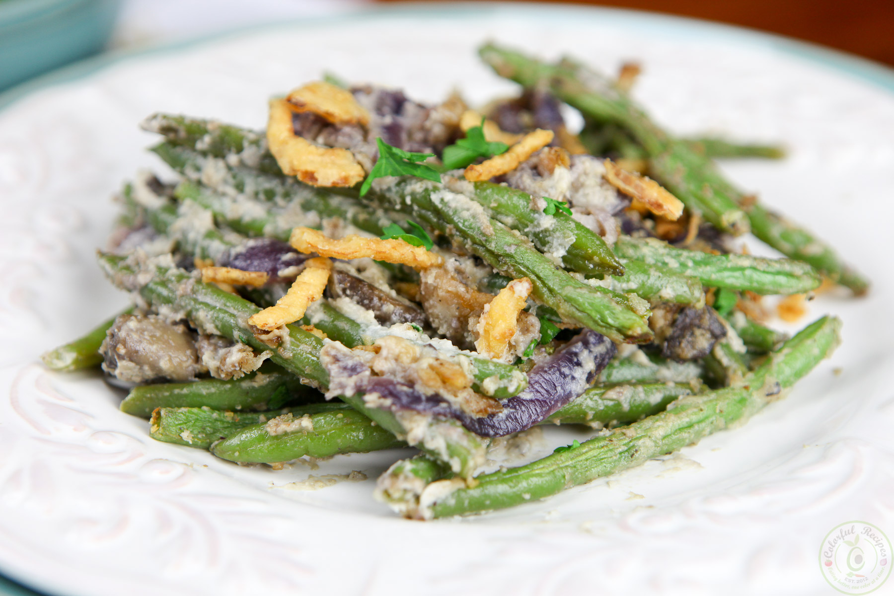 Green Beans In Cashew Cream Recipe — Dishmaps