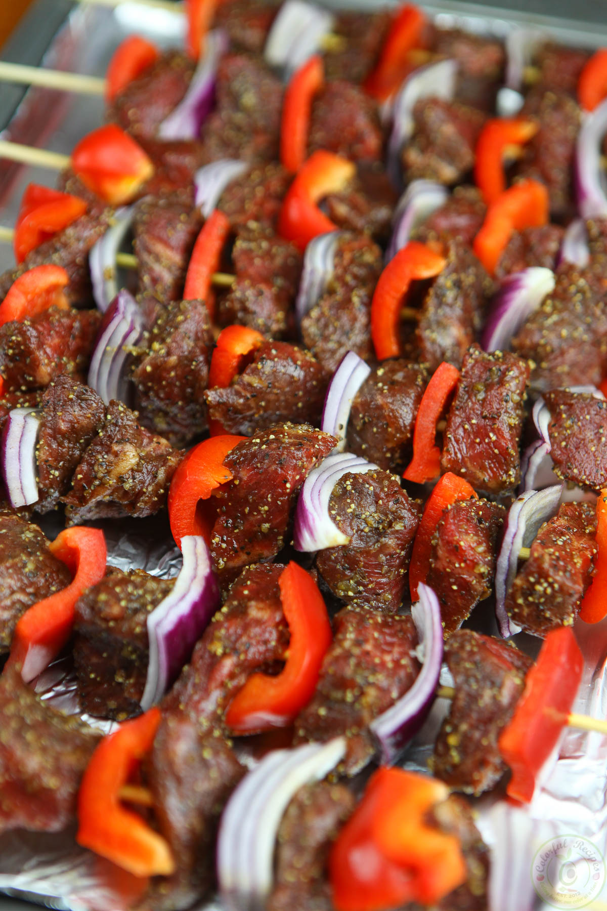 Easy Oven Broiled Beef kabobs