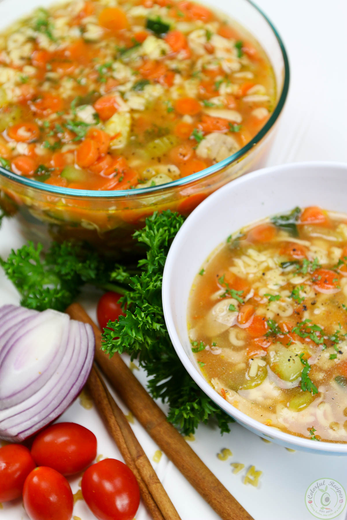 Toddler Approved Healing Alphabet Chicken Veggie Soup