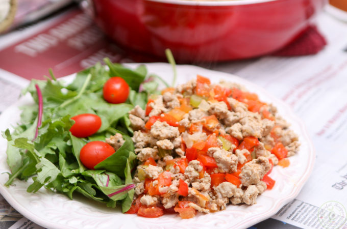 Organic Ground Turkey High Protein Low Carb Meal